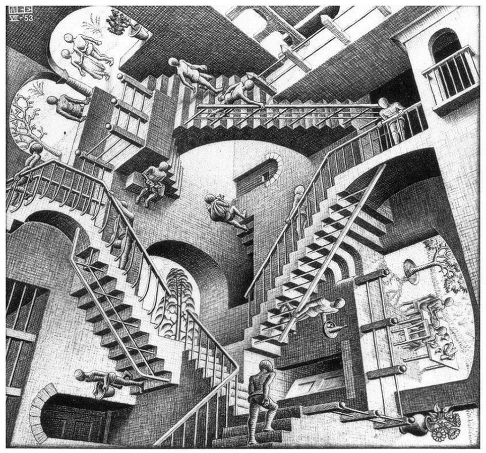 0 3 1 MC Escher 4 stairs
